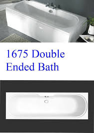 1675mm double ended bath old imperial size bath center tap holes white