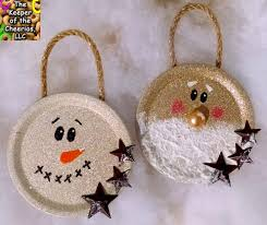 mason jar lid christmas ornaments christmas pinterest