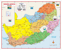 africa map map south africa political wall map mapstudio