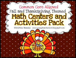 thanksgiving math centers and activities