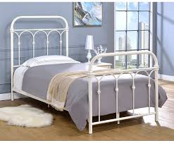 Antique White Metal Bed Frame Hallwood Bed Antique White Finish