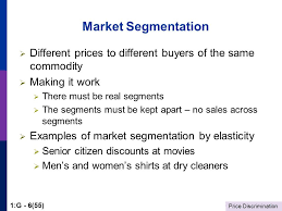 price discrimination 1 g 1 55 entertainment and media markets