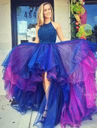blue graduation dresses glamorous high low blue prom dress royal blue prom dress