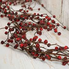 and burgundy artificial berry garland pip berries