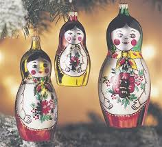 matryoshkas italian glass ornaments set of 3 the cottage