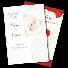 personalised anniversary cards the gift experience