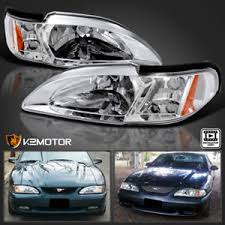 ebay mustang headlights 94 98 ford mustang chrome 2in1 headlights w built in