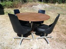 kitchen table with swivel chairs vintage chromcraft table vintage mid century modern dinette set