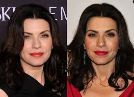 julianna margulies haircut julianna margulies wears both warm and cool red lipstick popsugar