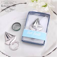 engagement party favors free shipping 50pcs sail boat bottle opener bridal shower party