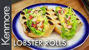 lobster roll recipe grilling lobster tails kenmore youtube