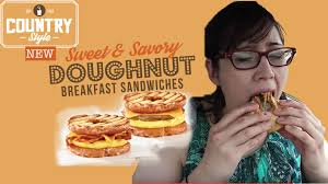 country style u0027s doughnut breakfast sandwich pam tries for the