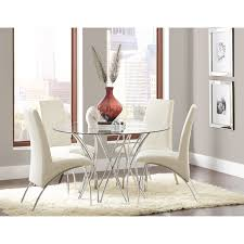 glass top tables dining room coaster cabianca contemporary dining set with glass top table