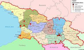 south ossetia map conflicts settlement for abkhazia and south ossetia