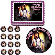 michael cake toppers michael jackson edible birthday party cake cupcake topper