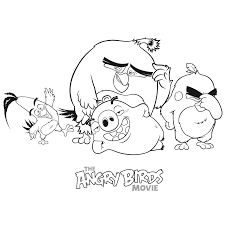 the angry birds movie coloring pages for kids