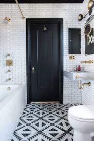 small bathroom ideas in black white u0026 brass cococozy