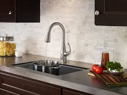touch free kitchen faucet pfister react touch free kitchen faucets offer purposeful