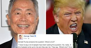 George Takei Oh My Meme - george takei impersonates donald trump 2 2 answer attn