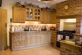 Brick Kitchen Ideas Kitchen Kitchen Cabinets Traditional Light Wood Rustic Knotty