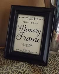 wedding guest book picture frame guest book memory frame sign our memory frame wedding signs