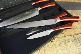 coffret couteaux de cuisine coffret 5 couteaux de cuisine pradel effet damas