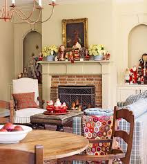 Living Home Christmas Decorations by Christmas Decorations In Living Room Hang White Socks Colorful
