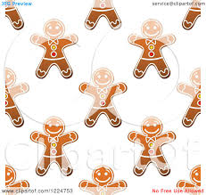 clipart of a seamless pattern background of christmas gingerbread