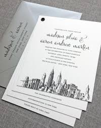 wedding invitations new york booklet new york skyline wedding invitation sle new