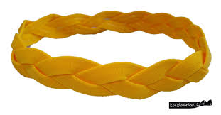 yellow headband braided headband no slip grip yellow