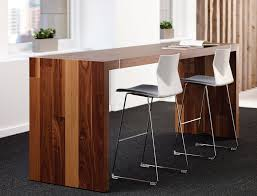 bar height conference table premium wood standing table ambience doré