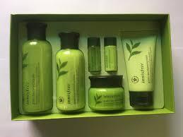 innisfree green tea balancing skin care set 3items gift 3items k