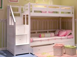 Bunk Bed Storage Stairs Minimalist Bunk Bed With Storage Stairs Uk Inside White Beds