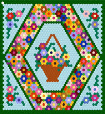 25 inch hexagon wall hanging project hexagon quilting hexagon