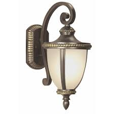 Antique Brass Outdoor Wall Lights by Shop Portfolio Cabaray 17 62 In H Dark Brass Outdoor Wall Light At