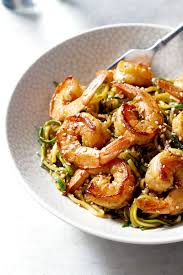 thanksgiving noodles recipe stir fry teriyaki shrimp with zucchini noodle u2014 eatwell101