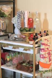 Cocktail Parties Ideas - furniture exciting golden mobile bar cart for flexible use