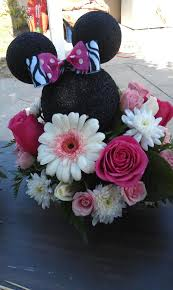 minnie mouse center pieces kreations by kendall minnie mouse birthday centerpiece