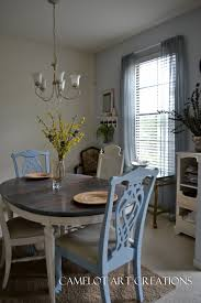 Refinish Dining Room Table Light 6 Piece Round Dining Room Set In White Painted Beyond Stores