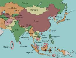 map of countries of asia asia map countries only major tourist attractions maps
