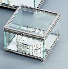 personalized jewelry box glass trinket box or jewelry box with optional engraving