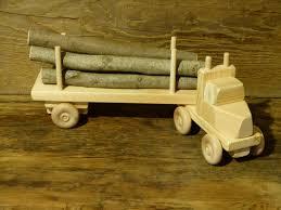 handmade wood handmade wood log truck wooden toys eco friendly green
