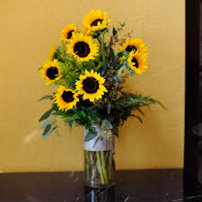sunflower delivery gogh in cooper city fl de la flor florist gardens