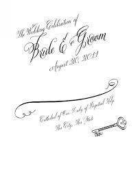 Wedding Bulletin Program Cover Clipart