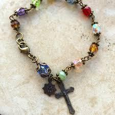 bracelet rosary chapel window multi gemstone rosary bracelet free shipping