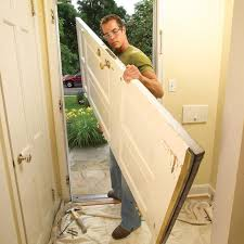 can you use an existing door for a barn door how to replace an exterior door diy family handyman