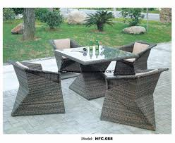Outdoor Furniture Balcony by Diamond Shaped Table Chair Set Modern Design Rattan Garden Set