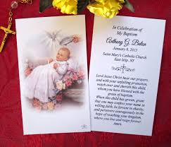prayer cards baby baptism prayer cards fratelli bonella