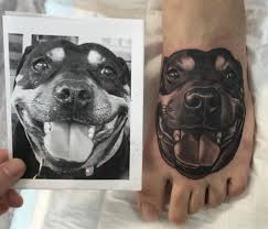 american eskimo dog tattoo 25 dog parents who tattooed their pups on their bodies to show