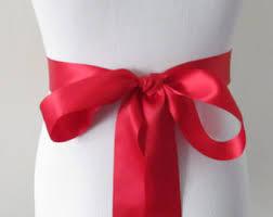 Red Sash Red Bridal Sash Etsy